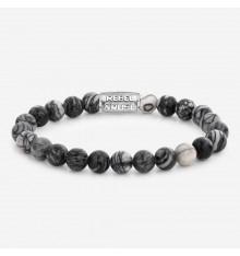 rebel&rose-black wolf-bracelet-extensible-homme-bijoux totem.