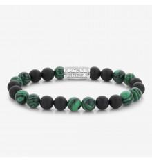 rebel&rose- matt malachite twist-bracelet-extensible-homme-bijoux totem.