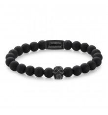 rebel&rose-skull Black all black-bracelet-extensible-homme-bijoux totem.