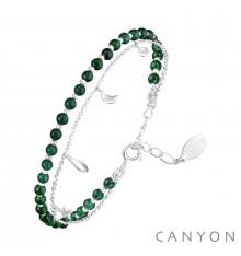 canyon france-bracelet-argent-onyx vert-bijoux totem
