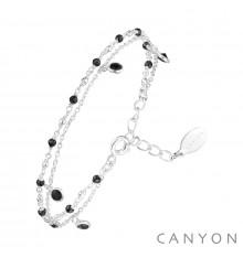 canyon france-bracelet-argent-onyx noir-bijoux totem
