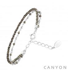 canyon france-bracelet-argent-2 chaines-pyrite-bijoux totem
