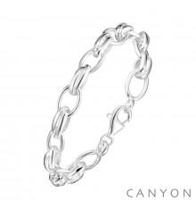 canyon france-bracelet-argent-maillons ovales-bijoux totem