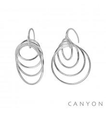 Canyon france-dormeuses-argent 925-pendantes-bijoux totem.