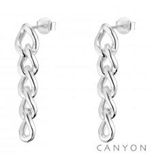 canyon france-boucles d'oreilles-pendantes-argent 925-5 maillons-bijoux totem.