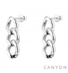 canyon france-boucles d'oreilles-pendantes-argent-3 maillons-bijoux totem.
