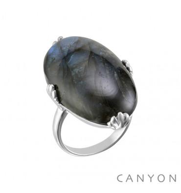 Canyon france-bague-argent-labradorite-ovale-bijoux totem.