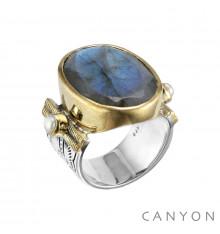 Canyon france-bague-argent-labradorite-bijoux totem.