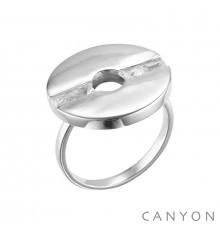 Canyon france-bague-argent-rond évidé-bijoux totem.