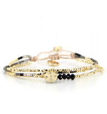 belle mais pas que-golden chic-bracelet-ajustable-3 rangs-bijoux totem