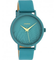 oozoo-montre-femme-bracelet cuir-bleu canard-bijoux totem