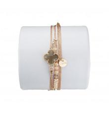 loetma-clover-bracelet-multi liens-réglable-nuage-bijoux totem