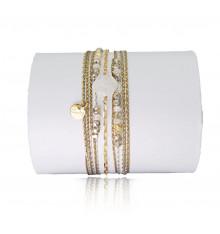 loetma-hexagone-bracelet-multi tours-réglable-pierre de lune-bijoux totem