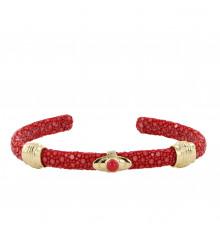 barong barong-saphira lotus-jonc-bracelet-rouge-bijoux totem.