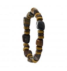 greentime-bracelet-homme-extensible-bois-œil de tigre-bijoux totem.