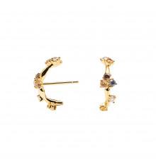 pdpaola-five-zoé-gold-boucles d'oreilles-bijoux totem