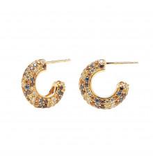 pdpaola-five-tiger-gold-boucles d'oreilles-créoles-bijoux totem
