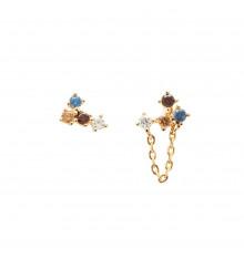 pdpaola-five-fox-gold-boucles d'oreilles-bijoux totem