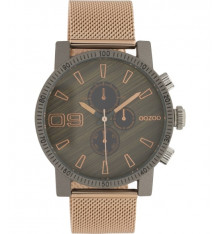 oozoo-montre-homme-maille milanaise-bijoux totem