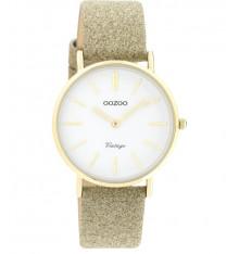 oozoo-montre-femme-bracelet cuir-doré pailleté-bijoux totem