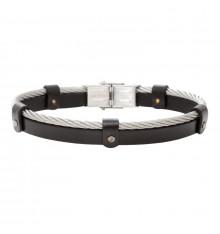 elden paris-charlie-bracelet homme-cuir-noir-bijoux totem