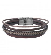 elden paris-raul-bracelet homme-cuir-multi rangs-bijoux totem