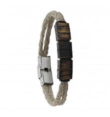 greentime-bracelet-homme-jute-bois de chêne-bijoux totem.