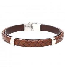 elden paris-everyday dark-bracelet homme-cuir-marron-bijoux totem