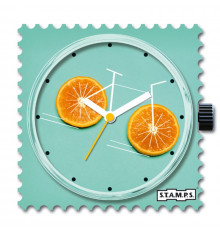 stamps-orange bike-cadran-montre-bijoux totem