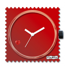 stamps-diamond red heart-cadran-montre-swarovski-bijoux totem