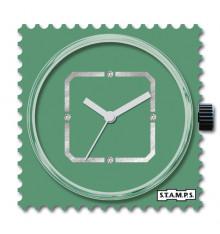 stamps-diamond-green-square-cadran-montre-swarovski-bijoux totem