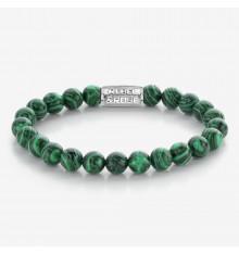 rebel&rose-malachite-vert-bracelet-extensible-homme-bijoux totem.