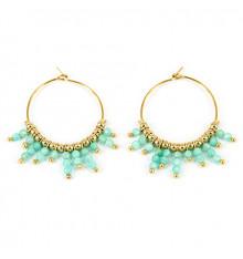 zag-boucles d'oreilles-créoles-incas-olivine-bijoux totem.