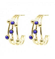 zag-boucles d'oreilles-créoles-constellation-lapis lazuli-bijoux totem.