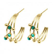 zag-boucles d'oreilles-créoles-constellation-malachite-bijoux totem.