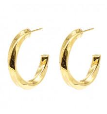 zag-boucles d'oreilles-créoles-totie-acier-doré-bijoux totem.