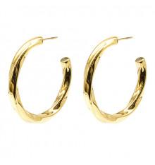 zag-bijoux-boucles d'oreilles-créoles-totie-acier-doré-bijoux totem.