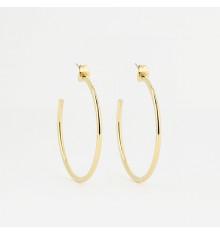 zag-bijoux-boucles d'oreilles-créoles-olivia-acier-doré-bijoux totem.