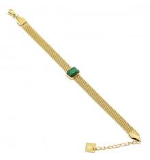 zag-bijoux-bracelet-pénélope-acier-doré-malachite-bijoux totem.