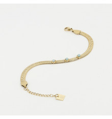 zag-bijoux-bracelet-efia-acier-doré-aqua-bijoux totem.
