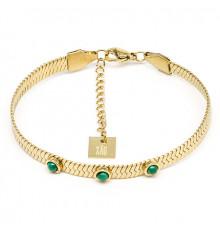 zag-bijoux-bracelet-efia-acier-doré-malachite-bijoux totem.