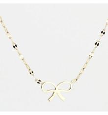 zag-bijoux-ruban-collier-acier-doré-bijoux totem.