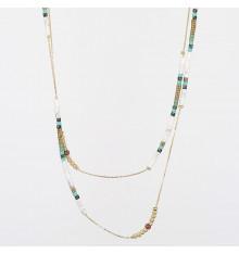 zag-bijoux-collier-long-acier-doré-jaspe-bijoux totem.