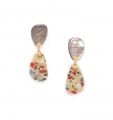 nature bijoux-gaudi-boucles d'oreille-petite nacre-bijoux totem.