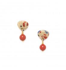 nature bijoux-gaudi-boucles d'oreille-perle ronde-bijoux totem.