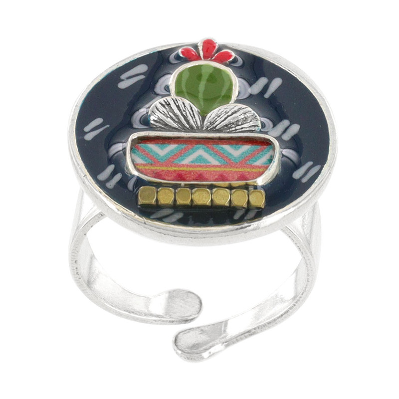 taratata bijoux-jardin d'hiver-bague-cactus-ajustable-bijoux totem