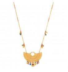franck herval-eden-collier-long-pendentif-éventail-bijoux totem.