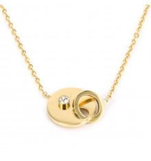 zag-bijoux-domino-collier-acier-doré-bijoux totem.