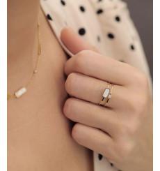 zag-bijoux-screen-bague-acier-doré-nacre-bijoux totem.