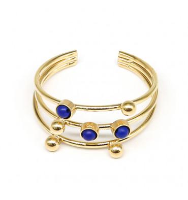 zag-bijoux-constellation-bague-acier-doré-lapis-bijoux totem.